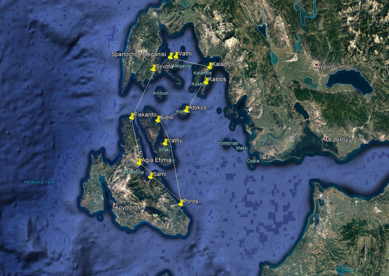 Kefalonia Sailing Holidays One week - Option A