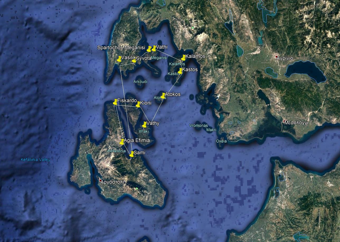 Kefalonia Sailing Holidays One week - Option B