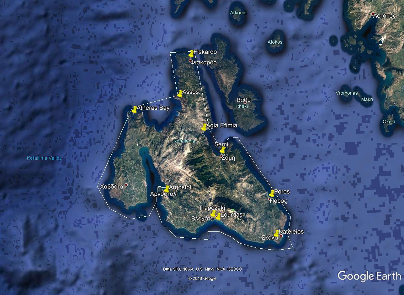 Kefalonia Sailing Holidays One week - Option D