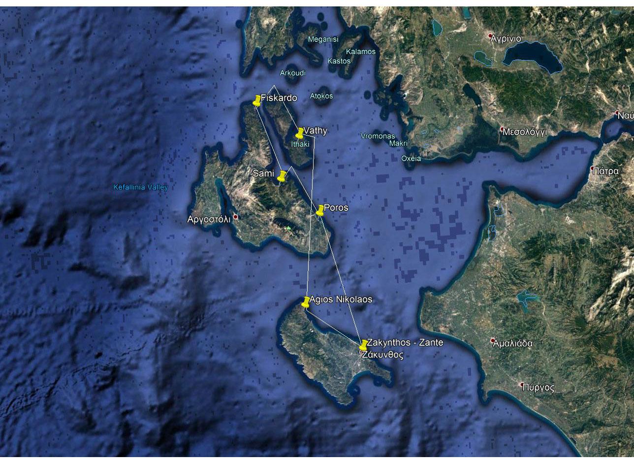Kefalonia Sailing Holidays One week - Option E