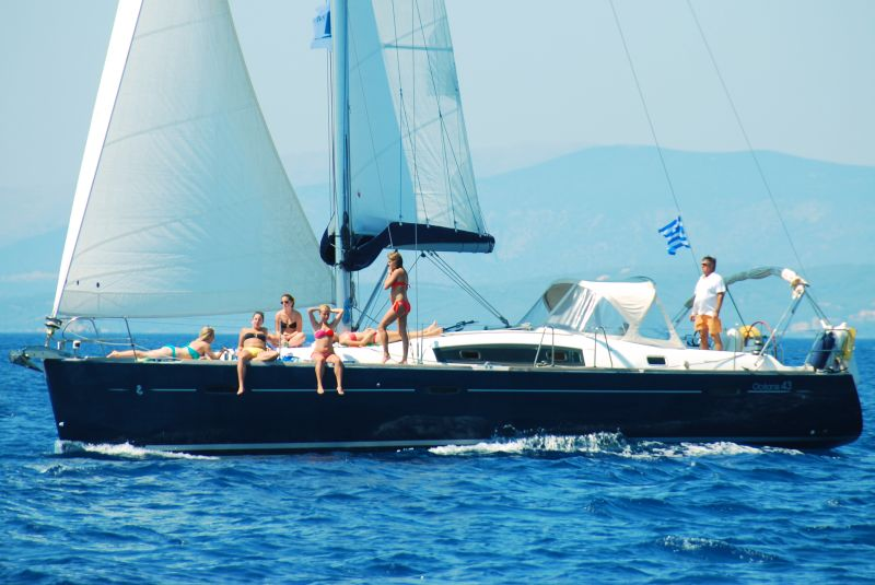 Sailing yacht charter with skipper